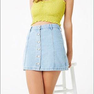 Forever 21 Button Denim Skirt